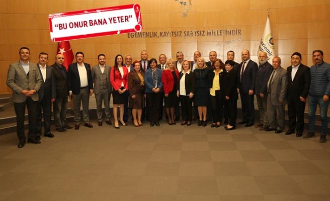 Gaziemir'de son Meclis Toplantısı'nda duygusal anlar