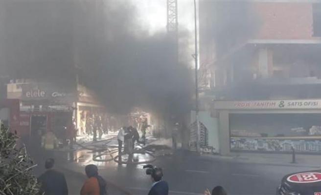 Ümraniye'de inşaatta yangın paniği!