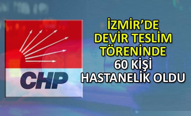 İzmir'de devir teslim töreninde 60 kişi hastanelik oldu