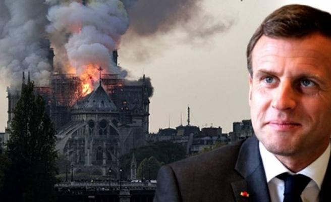 Macron: Yeniden inşa edeceğiz