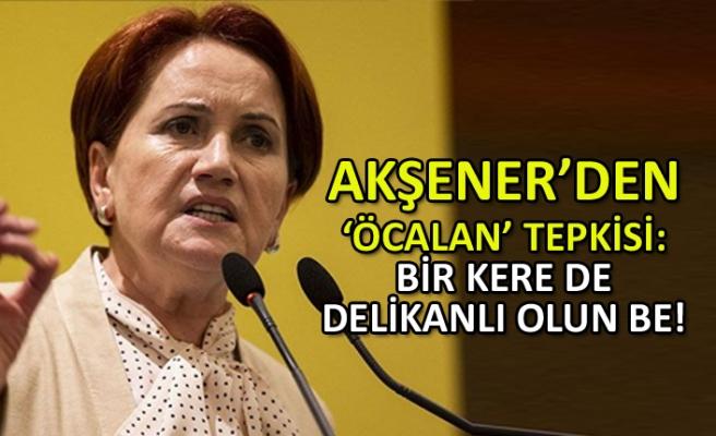 Akşener'den 'Öcalan' tepkisi: Bir kere de delikanlı olun be!