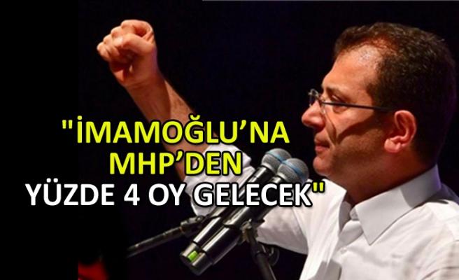 """""""İmamoğlu'na MHP'den yüzde 4 oy gelecek"""""""