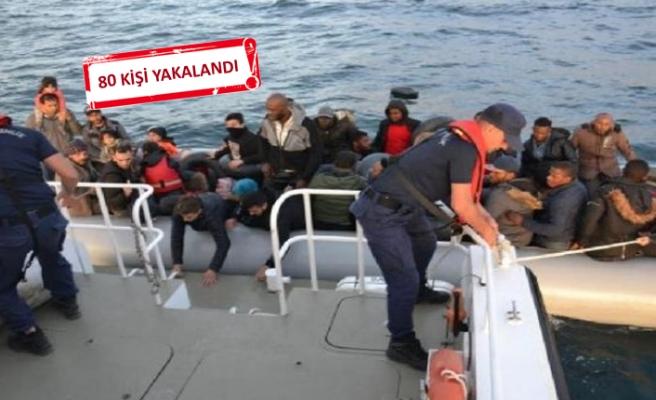 İzmir'de iki ilçede kaçak göçmen operasyonları