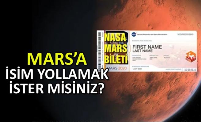 Mars'a isim yollamak ister misiniz