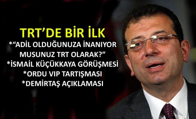 İmamoğlu TRT Haber'de canlı yayında soruları yanıtladı