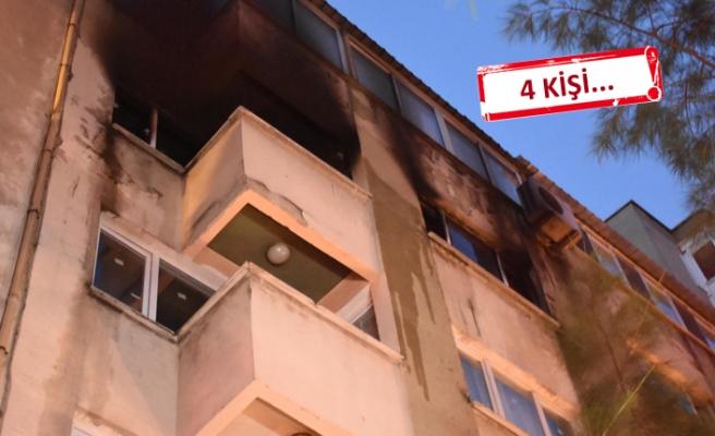 İzmir'de gece yarısı korkutan yangın