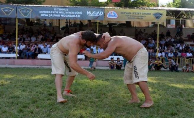 632 güreşçi, 15 Temmuz şehitleri anısına er meydanına çıktı