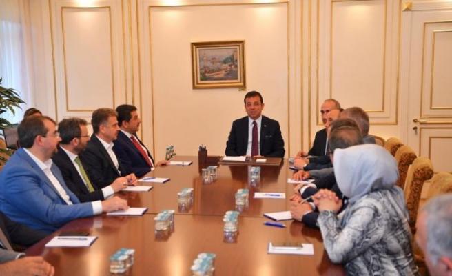 AK Partili belediye başkanlarından İmamoğlu'na tebrik ziyareti