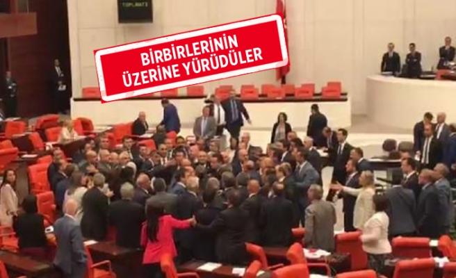 Meclis'te milletvekilleri arasında gerginlik çıktı