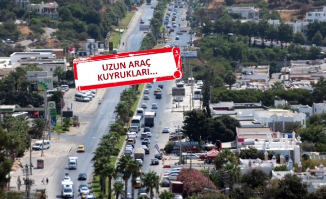 Bayram tatili dönüşünde trafik yoğunluğu