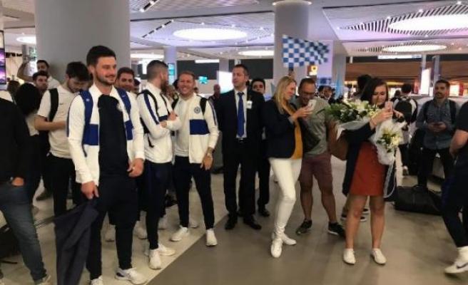 Chelsea, Süper Kupa finali için İstanbul'a geldi