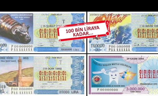 Dikkat: Milli Piyango biletlerini atmayın