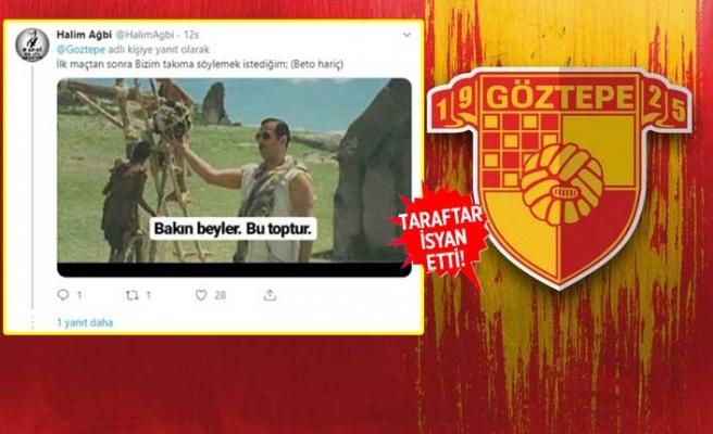 Göztepe tribünleri, yönetime tepkili!