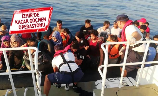 İzmir'de kaçak göçmen operasyonu
