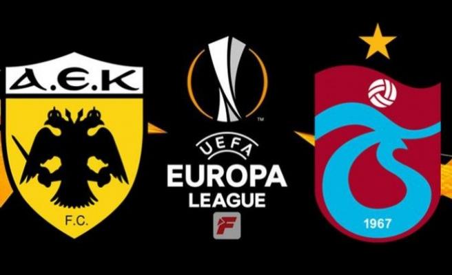 Trabzonspor AEK UEFA maçı saat kaçta, hangi kanalda?