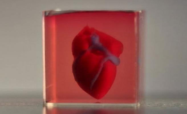 Üç boyutlu yazıcıyla kalp dokusu ürettiler