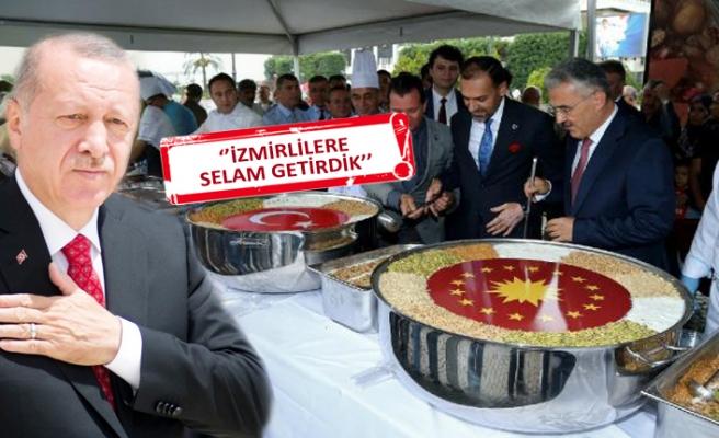 Cumhurbaşkanı Erdoğan'dan İzmir'e aşure ikramı