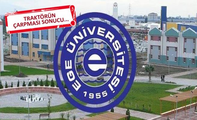 Ege üniversitesini yasa boğan ölüm