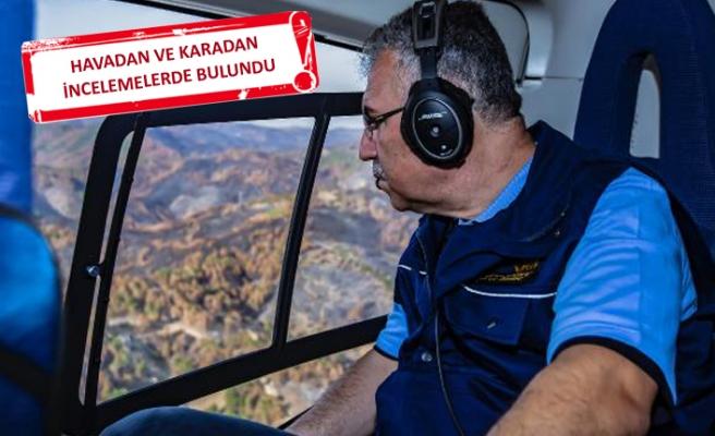 Yeni müdür İzmir'deki yangın bölgesinde incelemelerde bulundu