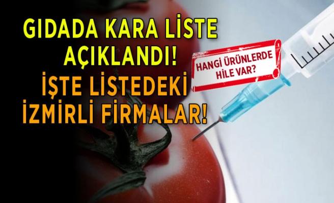 Gıdada kara liste açıklandı! Listede İzmir'den hangi firmalar var?