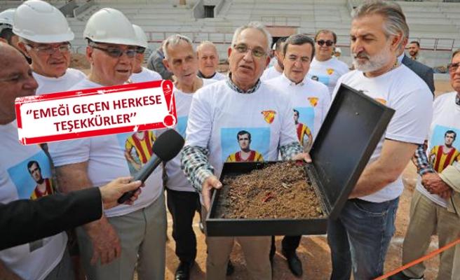 Göztepe'de, efsane kaptanın toprağı yeni statta