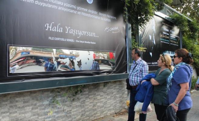 Aynaya bakınca Atatürk ile göz göze geldiler