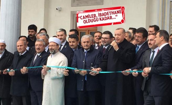 Cumhurbaşkanı Erdoğan, İzmir'de cami açtı