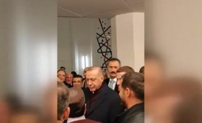 Erdoğan kendisine İngilizce seslenen bir kişiye böyle yanıt verdi