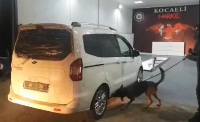 Narkotik köpeği tepki verdi, 35 kilo eroin ele geçirildi