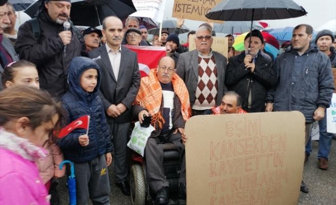 Torbalı'da geri dönüşüm tesisi protestosu
