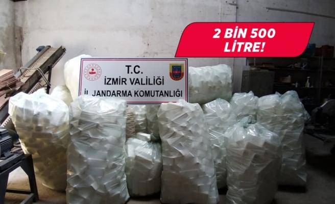 İzmir'de sahte dezenfektan ele geçirildi