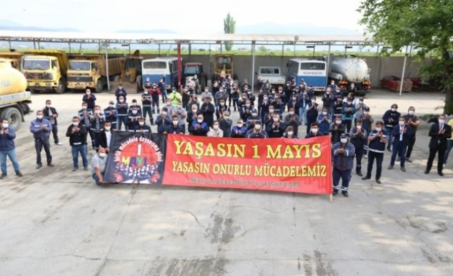 Efes Selçuk'ta erken 1 Mayıs kutlaması