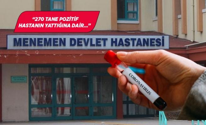 """Menemen Devlet Hastanesinden """"koronavirüs"""" açıklaması"""