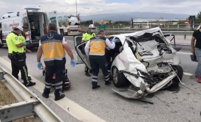 Seyahat izni alan yaşlı çifti kaza ayırdı