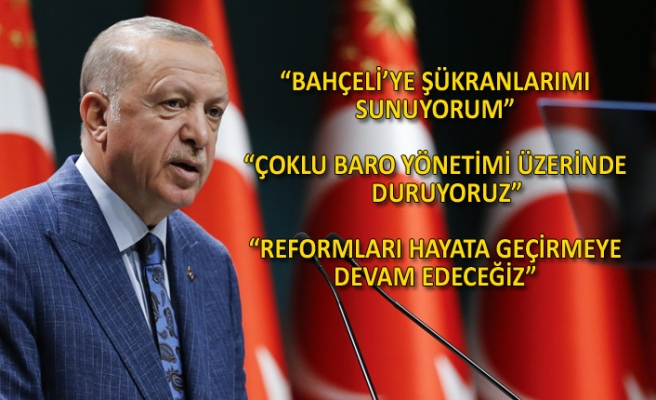 Toplantı sonrası Erdoğan'dan açıklamalar!