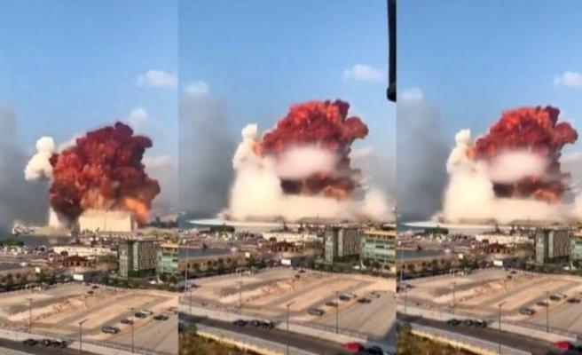 Beyrut'ta büyük patlama! Çok sayıda ölü ve yaralı var