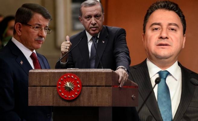 Erdoğan'dan Davutoğlu ve Babacan'a ağır darbe
