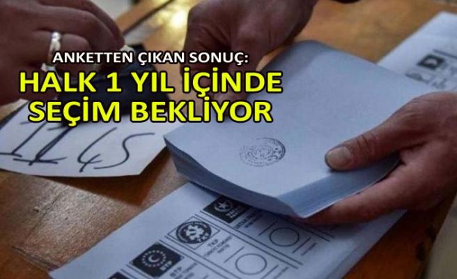 Halkın % 72.3'ü 1 yıl içinde seçim bekliyor