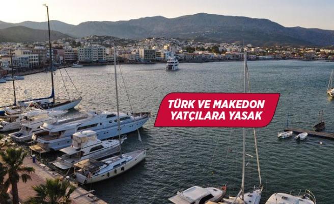 Yunanistan'dan Türk yatçılara yasak!