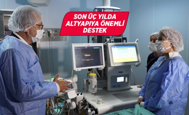Ege'de ameliyathanelerdeki anestezi cihazları yenilendi