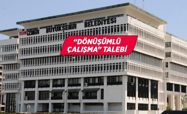 """İzmir Büyükşehir Belediyesi işçilerinden """"dönüşümlü çalışma"""" talebi"""