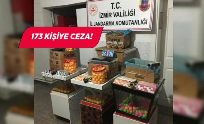 İzmir'de dernek binası ve depolara kumar baskını