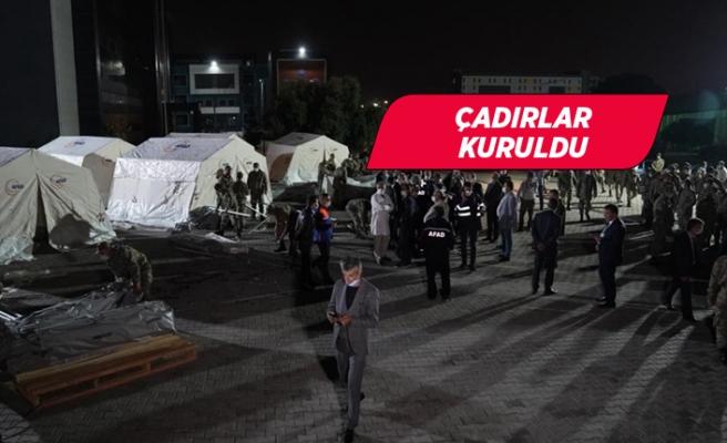 İzmir'de vatandaşlar için çadır kuruldu