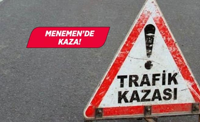 İzmir Menemen'de kaza! Motosiklet kamyona çarptı!