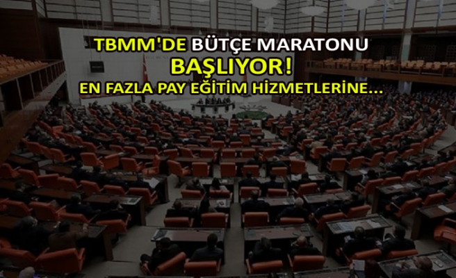 TBMM'de bütçe maratonu başlıyor!