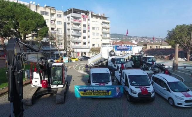 Bergama Belediyesi araç filosuna 14 yeni araç kattı