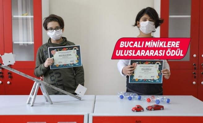 Bucalı minikler projeleriyle Türkiye'yi temsil etti