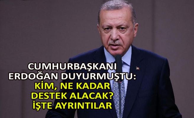 Cumhurbaşkanı Erdoğan duyurmuştu: Kim, ne kadar destek alacak? İşte ayrıntılar