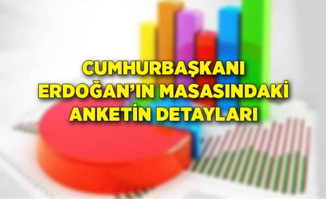 Cumhurbaşkanı Erdoğan'ın masasındaki anketin detayları!