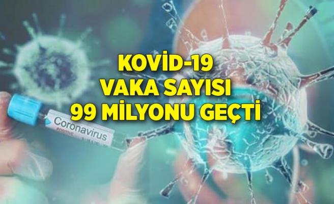 Dünya genelinde Kovid-19 vaka sayısı 99 milyon 329 bini geçti